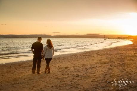 Portishead Wedding Photographer -  Sunset engagement photos by the sea