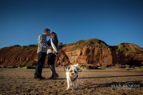 Portishead Wedding Photographer -  Engagement Photos with a dog