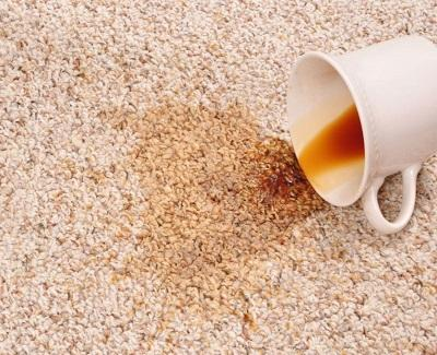 how to clean a carpet - tea stain
