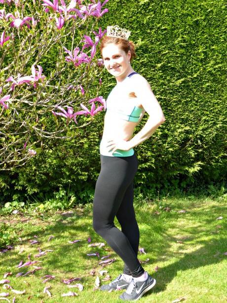 Sammy Sports Bra and Daisy Dee leggings, with added magnolia.