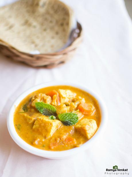 mixed veg kurma - mixed vegetable curry
