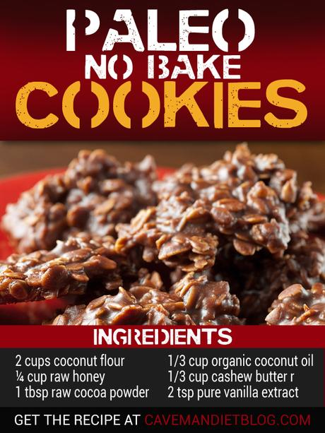 paleo dessert recipes no bake cookie with ingredients