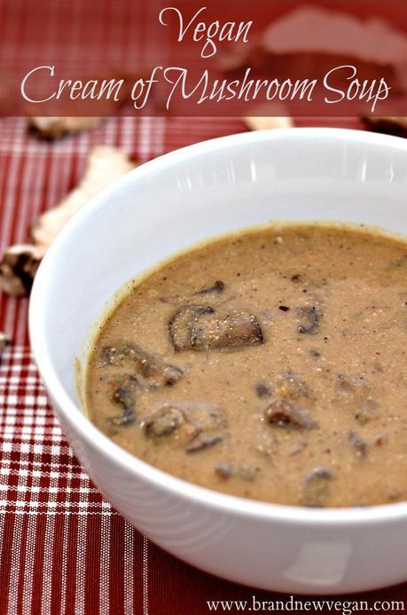 vegan cream of mushroom soup pin