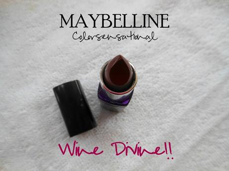 Maybelline Color Show Lipstick (410) Wine Divine // Review, Swatches