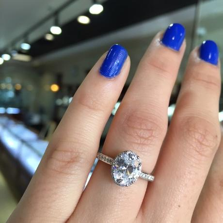 Gorgeous Tacori oval engagement ring