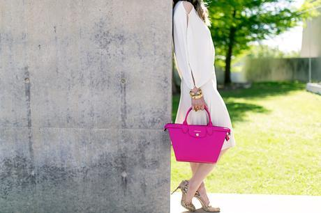 #LongchampSecretCity, Style of Sam, Longchamp Le Pliage Heritage cyclamen, coach python pumps, modern museum of fort worth