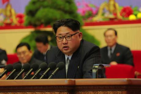 Kim Jong Un delivers closing remarks during the final day of the 7th Party Congress on May 9, 2016 (Photo: Rodong Sinmun)