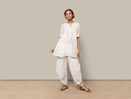 Style inspiration to wear white on white this summer.  Indian Ethnic Traditional Wears