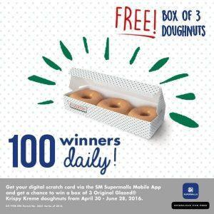 """Download & Win"" a Yummy Treat from SM Supermalls and Krispy Kreme Doughnuts & Coffee"