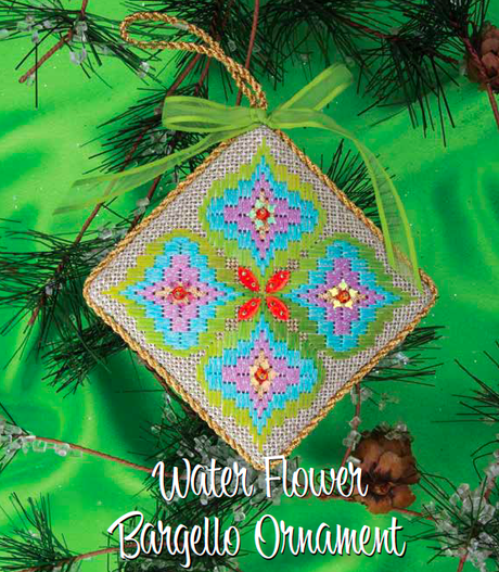 Water Flower, the Latest Bargello Ornament in Needlepoint Now!
