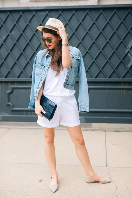 Dallas blogger, Amy Havins, wears the never basic Old Navy tee.