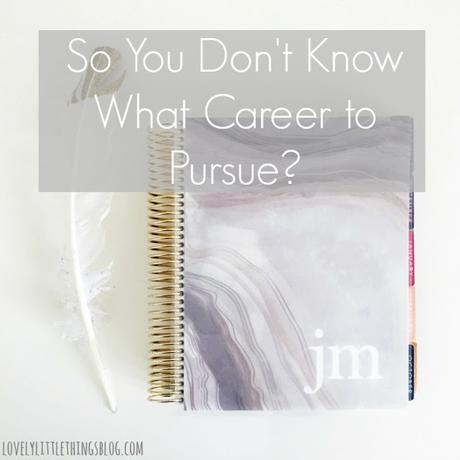 So You Don't Know What Career to Pursue?