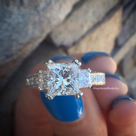 Tacori 3 stone engagement ring
