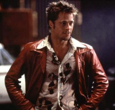 Brad Pitt as Tyler Durden in Fight Club (1999).