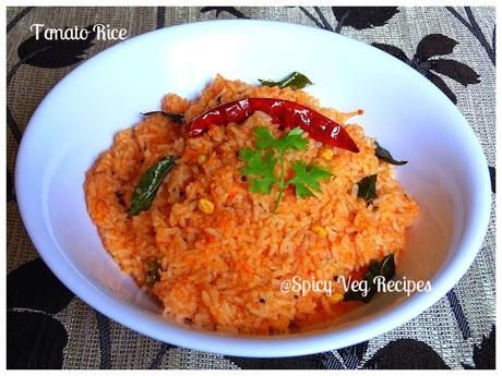 Regional Indian Cuisine, Rice, Rice Recipes, South Indian Recipes, South Indian., Tomato,