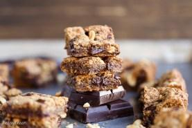 Peanut Butter Chocolate Chunk Blondies (GF + Refined SF)