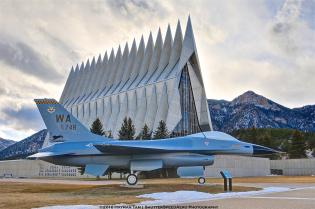 HDR colorado trip, ECO, USAF Academy, F-16 Fighting Falcon,