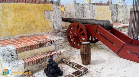 Cannon in Cartagena Colombia
