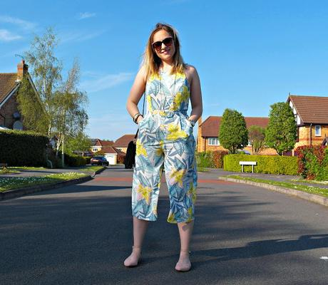 Tropical Print Culotte Jumpsuit and Fringing Vibes // Style