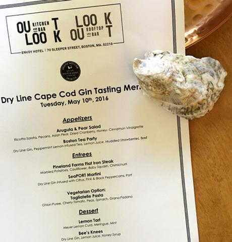 Dry Line Cape Cod Gin Launch Party Menu At Outlook Kitchen + Bar