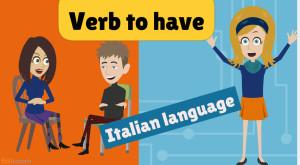 Verbo avere. verb to be in Italian language