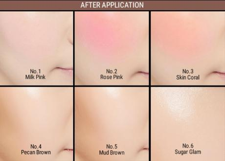 Missha Soft Blending Stick Blusher color range on skin