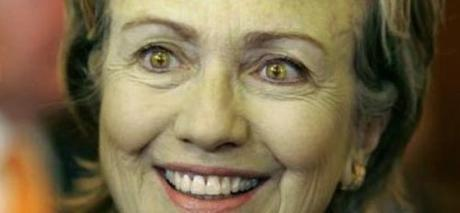 Hillary's weird eyeballs