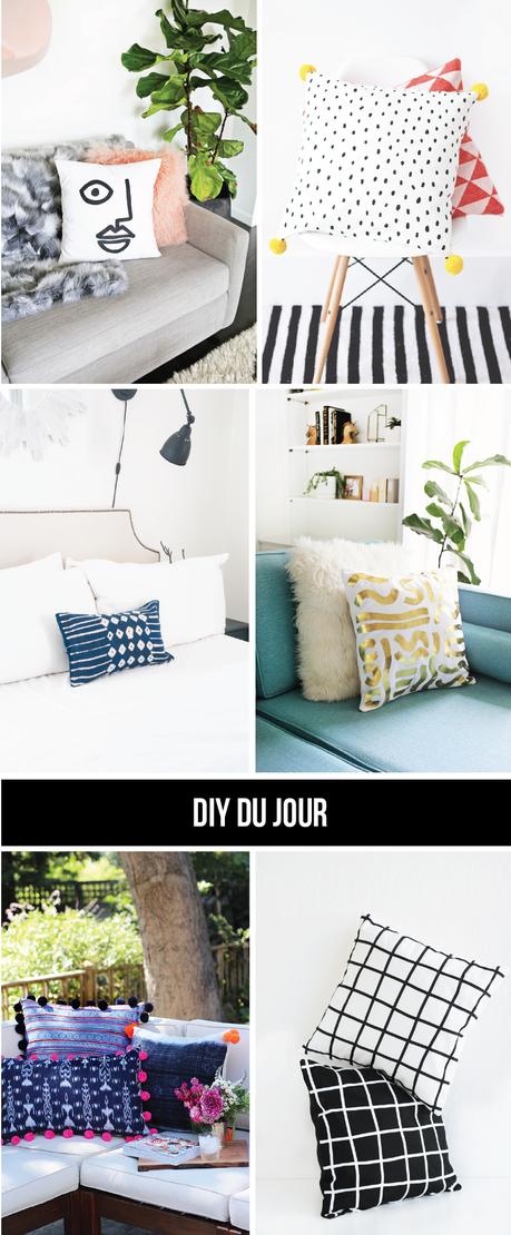 DIY du Jour: Statement Throw Pillows