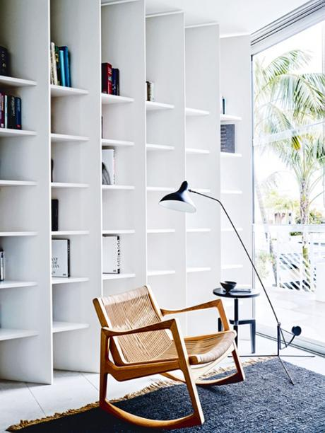Eclectic beach home in Sydney. Reading nook. Photo by Anson Smart via Vogue Living