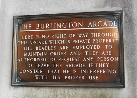 #plaque366 Burlington Arcade