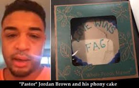 Jordan Brown and his fake cake