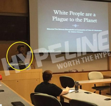 Towson U. 'white people are a plague'
