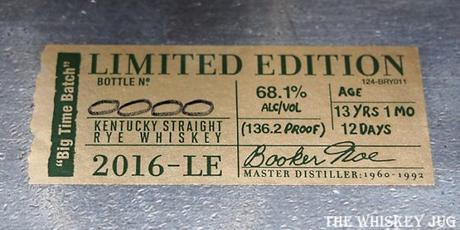 Bookers Rye Label