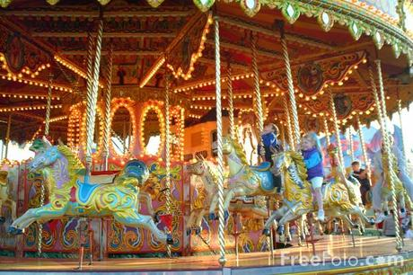 Merry go round, The Hoppings, Newcastle upon Tyne (c) FreeFoto.com