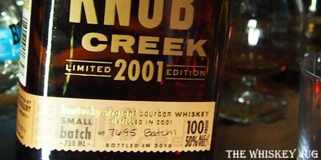 Knob Creek Vintage 2001 Label
