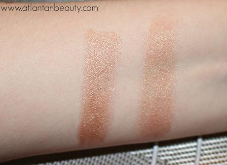 Review and Swatches of Hard Candy's Eye Def Chrome Eyeshadow Crayon in Blazing Pink and Adore Rose Gold