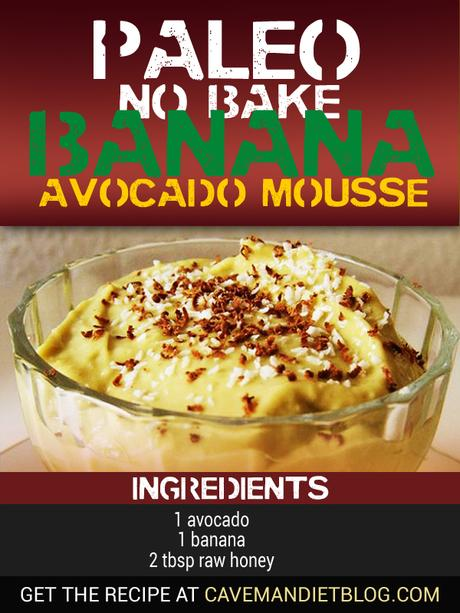 Paleo Dessert Recipes Banana Avocado Mousse Ingredient Image