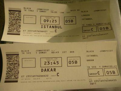 My boarding passes