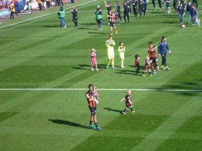Post match parade and players lap of honour