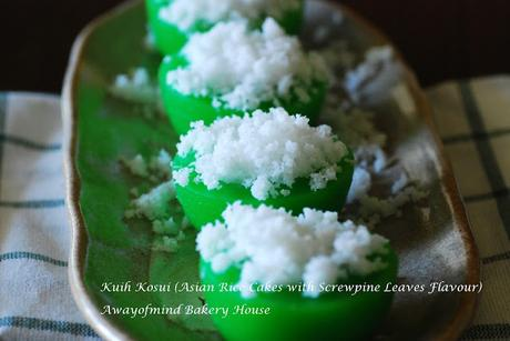 Kuih Kosui (Asian Rice Cakes with Screwpine Leaves Flavour)