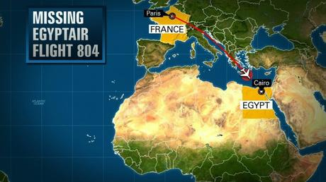 Missing EgyptAir Flight 804 with 66 people aboard.