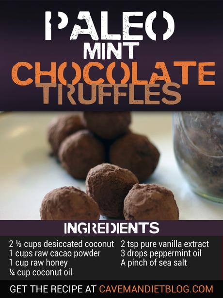 paleo dessert recipes mint chocolate truffle image with ingredients