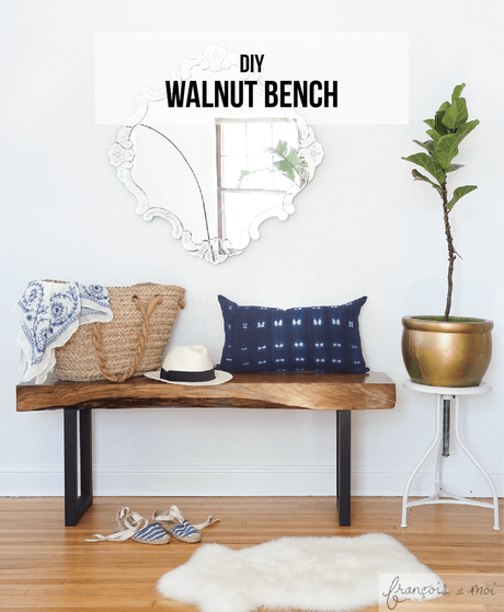 How to Make a Live Edge Walnut Bench