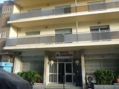 The exterior of Hotel Baraka