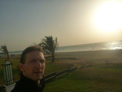 Sunset by the Atlantic Ocean