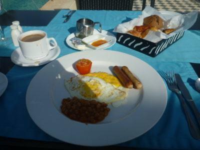Five star breakfast at the Coco Ocean Resort, Gambia