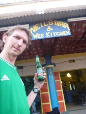 55 pence beer at Neil's Bar and Wee Kitchen