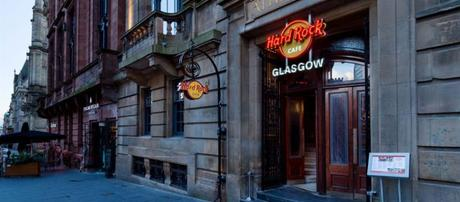 hard rock cafe glasgow outside foodie explorers