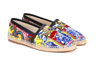 A Pop Of Print For The Season: Dolce & Gabbana Printed Canvas Espadrilles