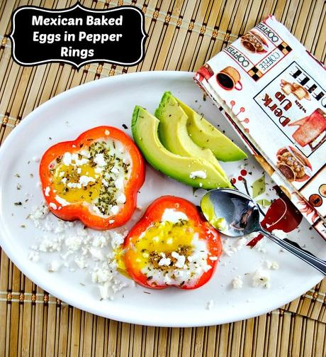 5 Ingredient Mexican Baked Eggs with Red Pepper and Queso Fresco